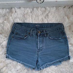 UO BDG Grey Denim High Rise Shorts